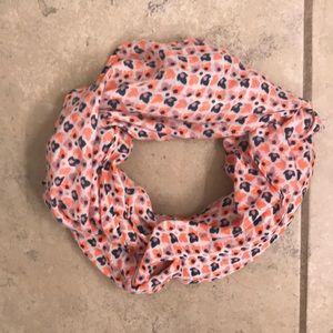 J CREW Neon floral scarf